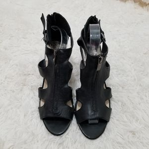Vince Camuto Leather Strappy Heels,  10B
